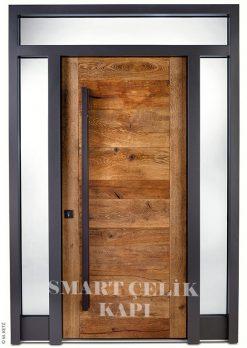 Villa Giriş Kapısı Ahşap Kaplama SVK015