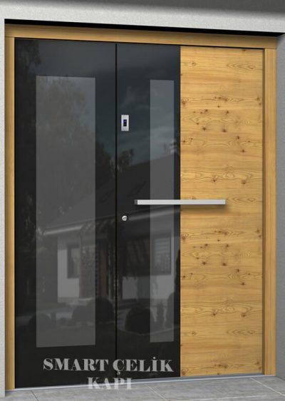 SVK-018 kompozit villa kapısı kompak lamine villa kapısı modelleri villa giriş kapıları villa giriş kapısı modelleri özel tasarım villa kapıları