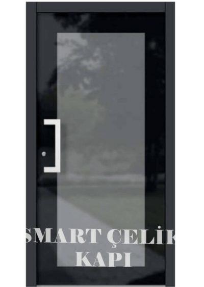 SVK-02 Siyah tek kanat villa kapısı modelleri villa giriş kapıları villa giriş kapısı modelleri özel tasarım villa kapıları