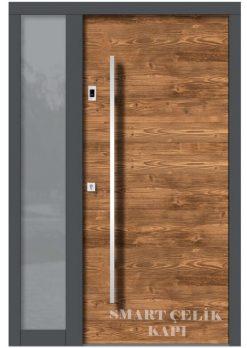 Villa Giriş Kapısı Ahşap Kaplama SVK020