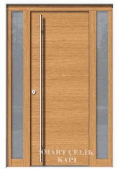 Villa Giriş Kapısı Ahşap Kaplama SVK021