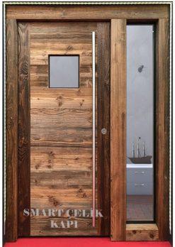 Villa Giriş Kapısı Ahşap Kaplama SVK022