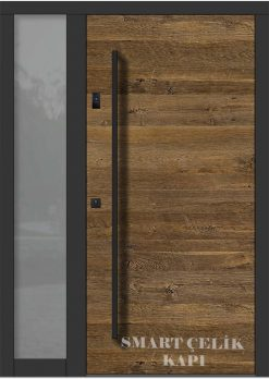 Villa Giriş Kapısı Ahşap Kaplama SVK024