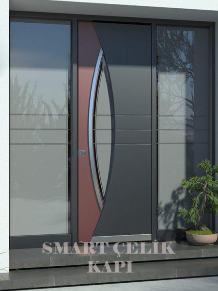 SVK-031 kompozit villa kapısı kompak lamine villa kapısı modelleri villa giriş kapıları villa giriş kapısı modelleri özel tasarım villa kapıları