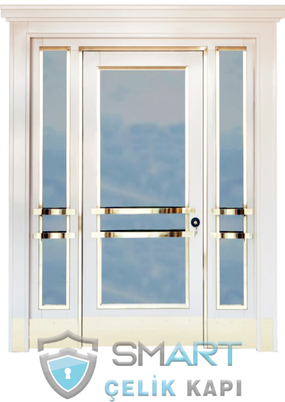 Ahşap Kaplama Apartman Giriş Kapısı Bina Kapısı SBK-012