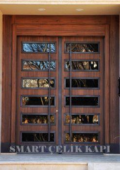 Ahşap Kaplama Apartman Giriş Kapısı Bina Kapısı SBK-005