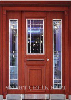 Ahşap Kaplama Apartman Giriş Kapısı Bina Kapısı SBK-006