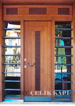 Ahşap Kaplama Apartman Giriş Kapısı Bina Kapısı SBK-013