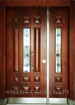 Ahşap Kaplama Apartman Giriş Kapısı Bina Kapısı SBK-017