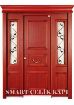 Ahşap Kaplama Apartman Giriş Kapısı Bina Kapısı SBK-023