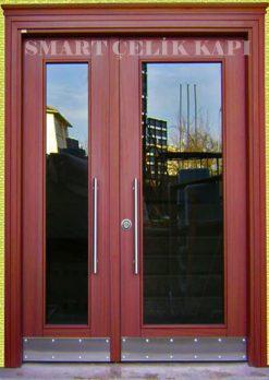 Ahşap Kaplama Apartman Giriş Kapısı Bina Kapısı SBK-024