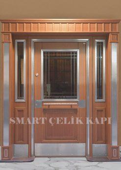 Ahşap Kaplama Apartman Giriş Kapısı Bina Kapısı SBK-025