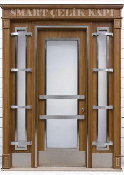 Ahşap Kaplama Apartman Giriş Kapısı Bina Kapısı SBK-026