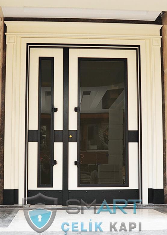 Ahşap Kaplama Apartman Giriş Kapısı Bina Kapısı SBK-004