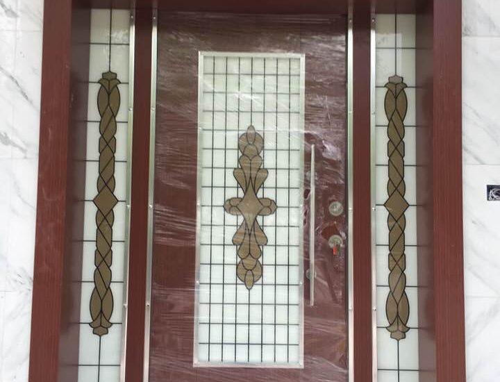 Vitray Camlı Kompozit Villa Kapısı Maşukiye