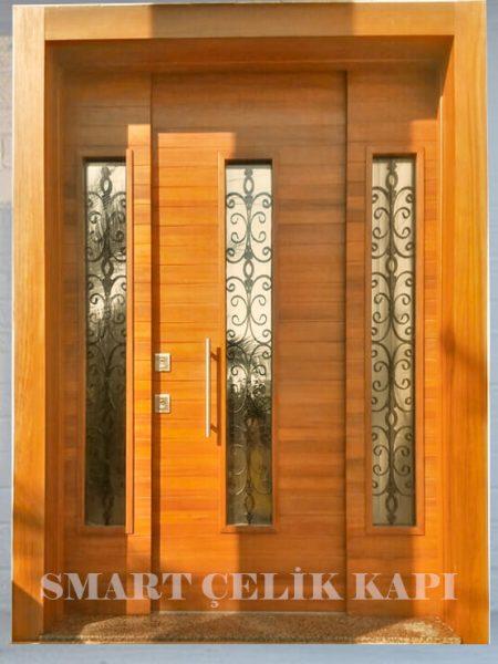 villa kapısı modelleri 2019 kompak ahşap villa kapısı