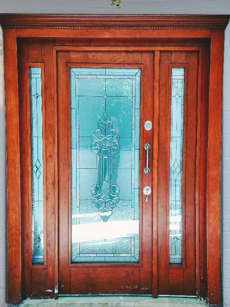 villa kapısı ahşap kaplama