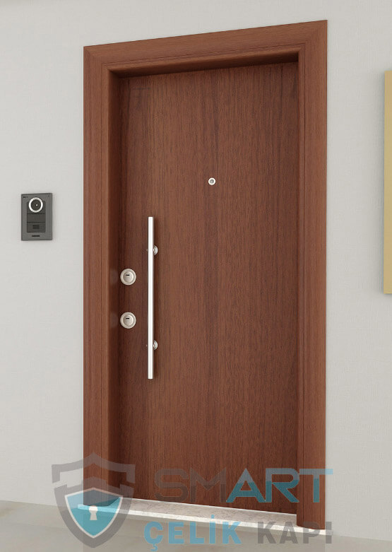 Chelsea Ahşap Kaplama Modern Çelik Kapı Modelleri
