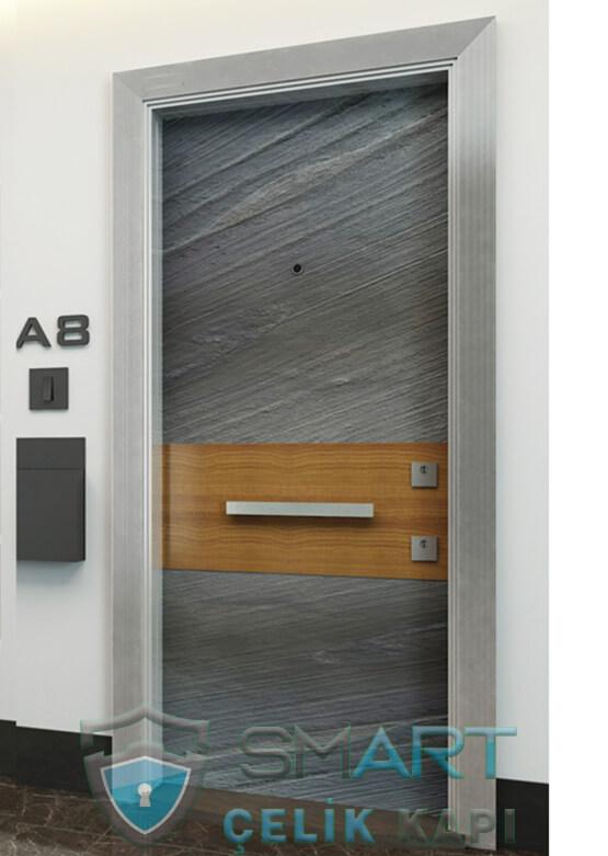 Ecem Kompozit Çelik Kapı Granit Desen