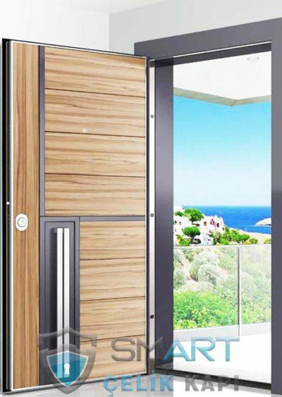 Hana modern çelik kapı modelleri dila ahşap kaplama çelik kapı daire kapısı Maya