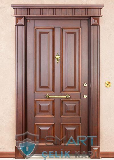 Kansas Klasik Çelik Kapı alarmlı çelik kapı modelleri parmak izi okuyuculu çelik kapı