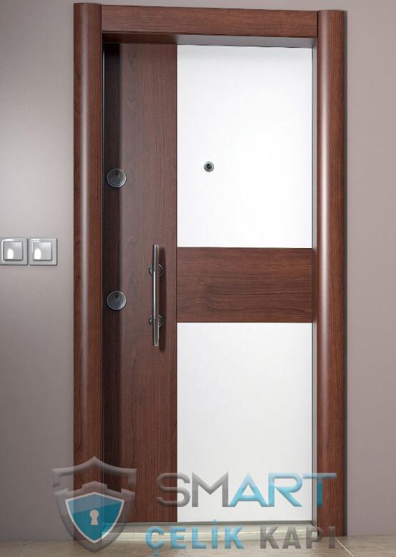 Linda Modern Çelik Kapı Modelleri Ahşap Kaplama