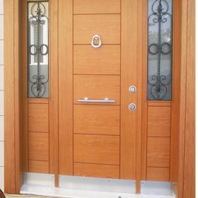 ahşap kaplama villa kapısı özel üretim villa kpaısı kompozit villa kapısı villa kapısı 7