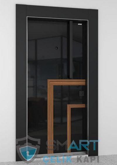black fire çelik kapı modelleri özel tasarım siyah çelik kapı