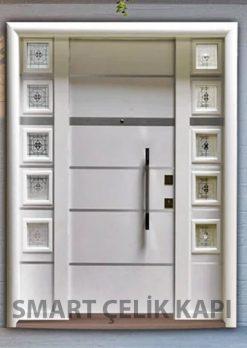 Kompozit Kaplama Beyaz Villa Giriş Kapısı SVK-036