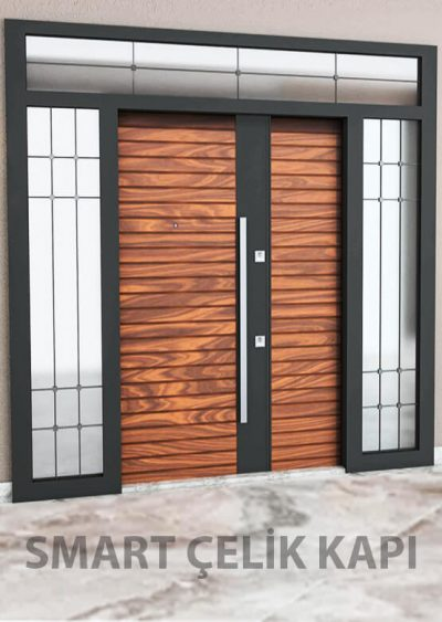 villa kapısı ahşap kaplama villa kapısı özel üretim villa kpaısı kompozit villa kapısı
