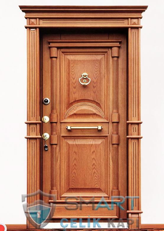 Klasik Çelik Kapı Kabartmalı Lüks Sadrazam