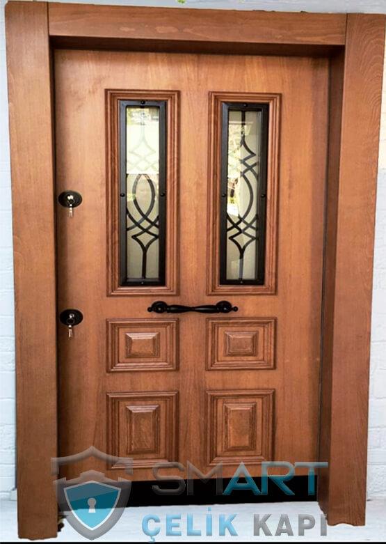 Villa Kapısı Modelleri Ahşap Kaplama Titan