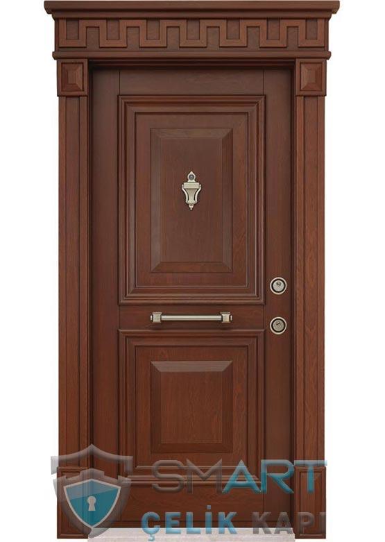 Klasik Çelik Kapı Kabartmalı Lüks Risus