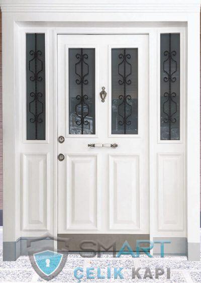 Beyaz Apartman Kapısı Bina Kapısı Modelleri Apartman Giriş Kapısı