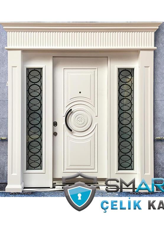 Villa Kapısı Dış Mekan Beyaz Ölçüye Özel Üretim VK-888
