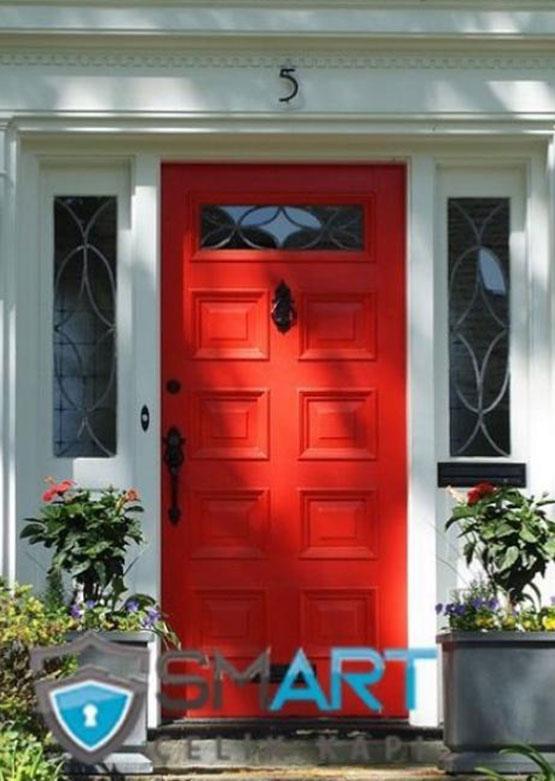 Kırmızı Çelik Villa Kapısı VK-Red28