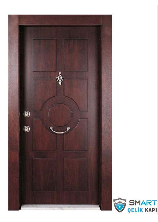 Ahşap Görünümlü Lüks Çelik Kapı YHY 1236