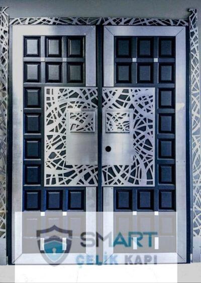 Beyaz Desenli Kurşun Geçirmez Lüks Villa Kapısı YHY 0214