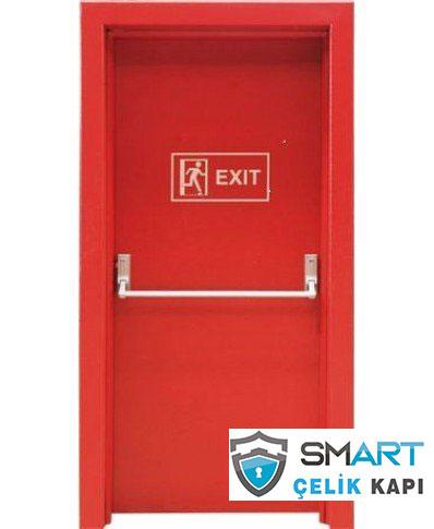 Kırmızı Yangın Kapısı Smr-4042