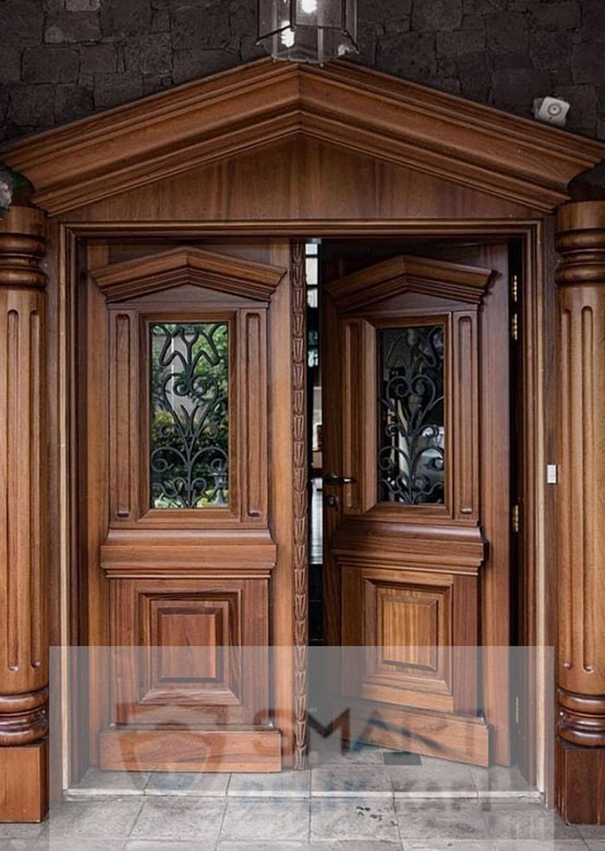 Lüks Ahşap Villa Kapısı YHY 0215