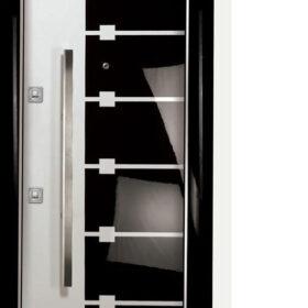 Siyah Beyaz Çelik Kapı Modelleri Syhbyz 1234
