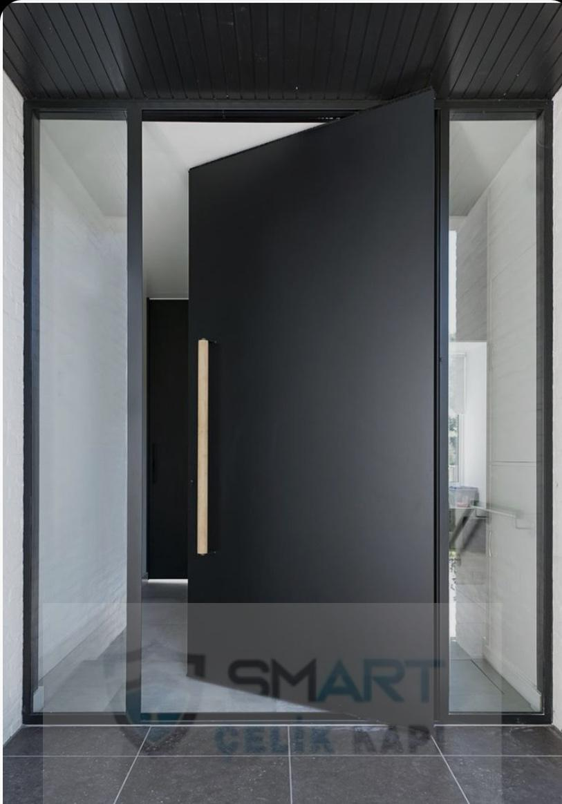 Siyah Mat Villa Kapı Modeli Kompozit Yhy-028