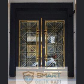 Siyah Modern Apartman Giriş Kapısı YHY 0236