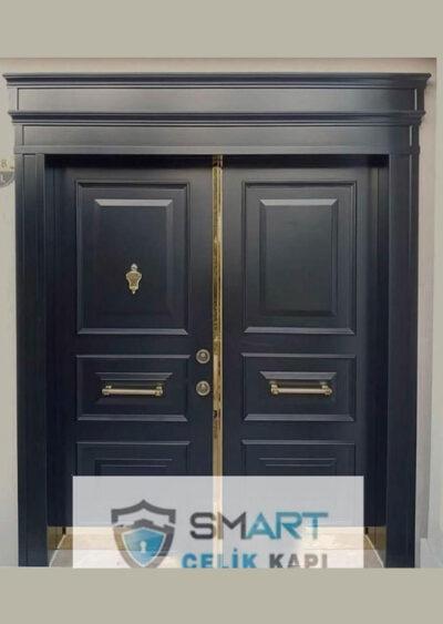 Mat Siyah Çelik Kapı YHY 0229