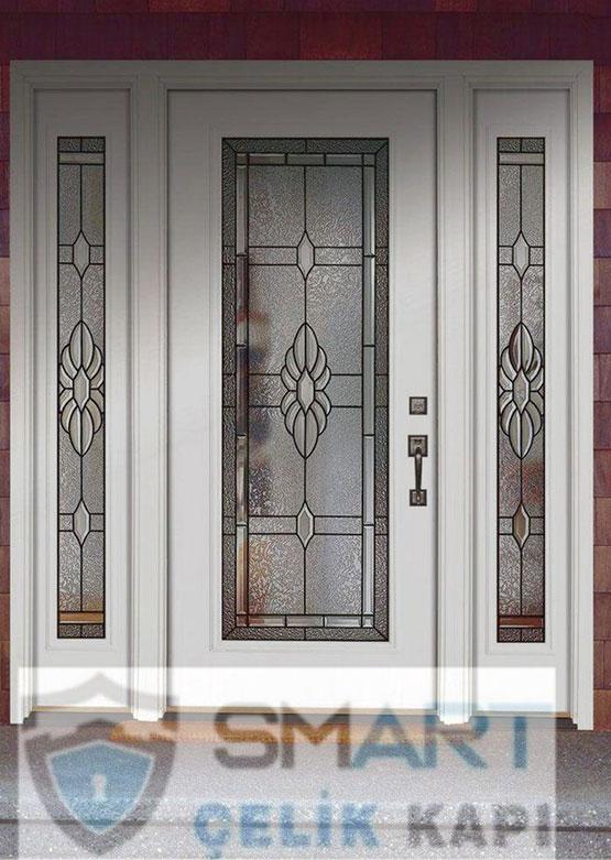 Özel Beyaz Lüks Villa Kapısı YHY 0273