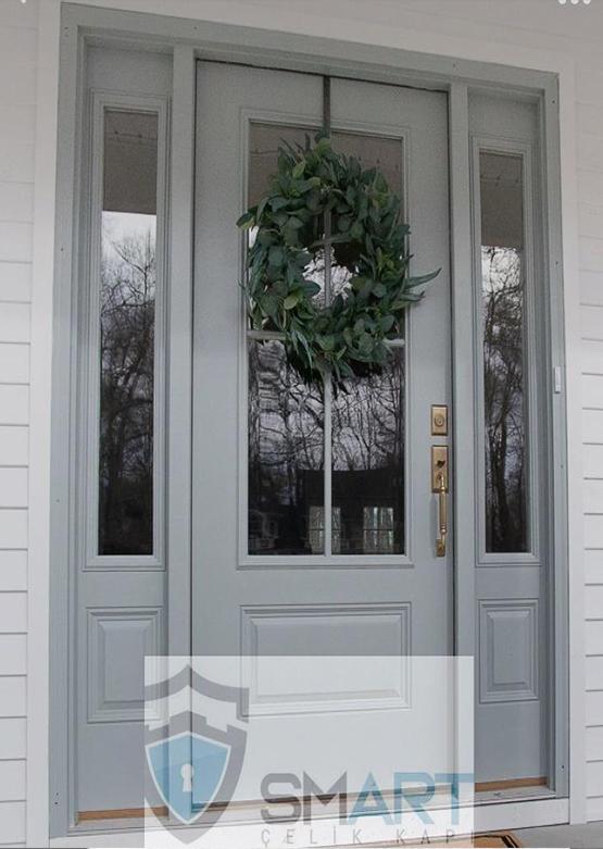 Gri Lüks Villa Kapısı YHY 0282