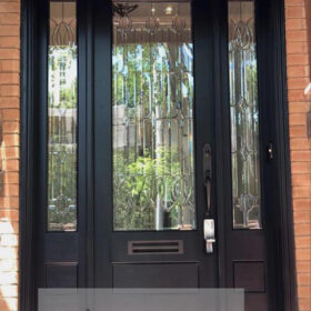 Siyah Mat Lüks Villa Kapısı YHY 0283