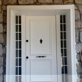Beyaz Kompak Kompozit Villa Kapısı YHY 0299