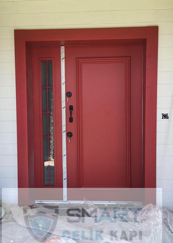 Bordo Kompak Kompozit Villa Kapısı YHY 0301