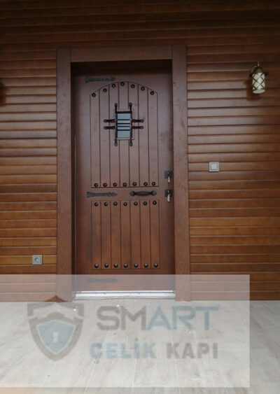 Kahverengi Lüks Kompak Kompozit Villa Kapısı YHY 0296